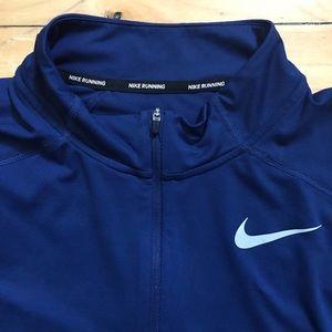 Nike flash element reflective half zip sweat